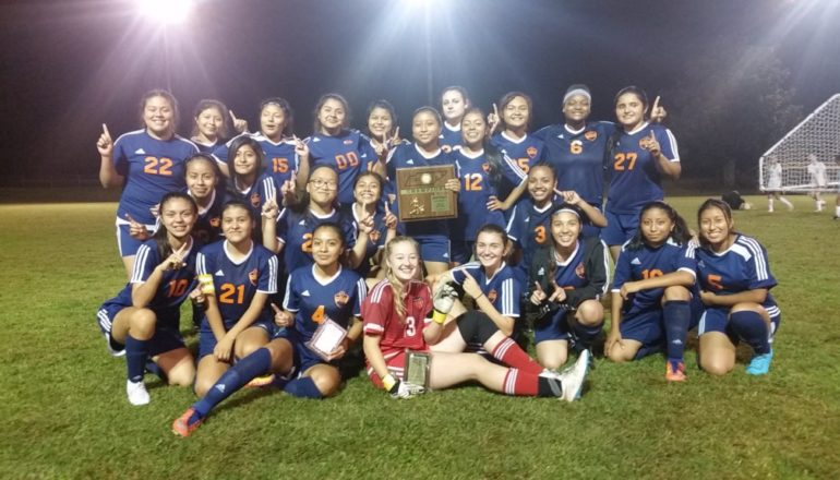 Lady Pioneers Claim District Soccer Title